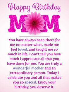Happy Birthday Wishes, Birthday Quotes Send Free I Celebrate You! Happy Birthday Card for Mother to Loved Ones on Birthday & Greeting Cards by Davia. It's free, and you also can use your own customized birthday calendar and birthday reminders. Birthday Greetings For Mom, Birthday Message For Mom, Happy Birthday Mom Quotes, Birthday Wishes For Mother, Birthday Celebration Quotes, Birthday Cards For Mom, Birthday Messages, Funny Birthday, Birthday Nails