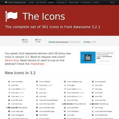 FontAwesome: This is one of my favourite icon fonts. Very easy to setup and it has a large set of icons.