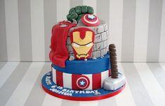 Modelos de Tortas de Avengers: Imágenes de Tortas de Los Vengadores Decoradas