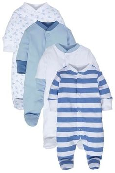 Buy Blue Sleepsuits Four Pack (0mths-2yrs) from the Next UK online shop $24.56