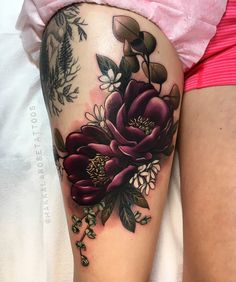 "2,072 Likes, 29 Comments - Makkala Rose (@makkalarosetattoos) on Instagram: ""Tattooed for lovely Hyla today. Always a fun day making floral arrangements! Thanks so much for…"""
