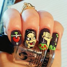 Halloween by gonewithscarlett  #nail #nails #nailart