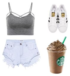 """""""Summa"""" by liabrooks on Polyvore featuring adidas Originals and One Teaspoon"""