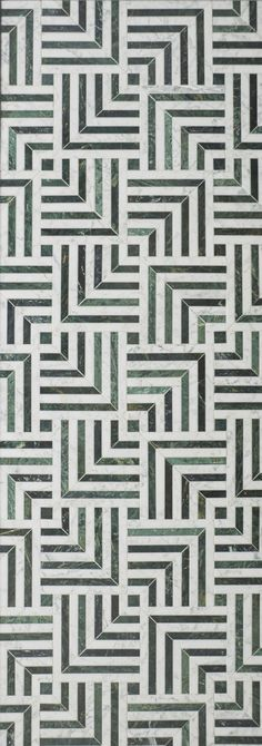 KELLY WEARSTLER X ANN SACKS. 'Liaison Mulholland Small' stone patterned tiles