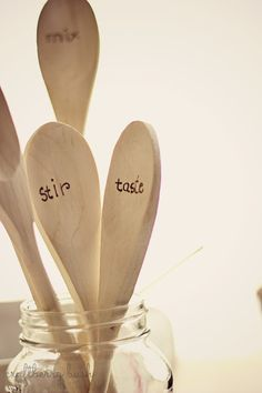 Craftberry Bush: Our weekend and some wood burned spoons