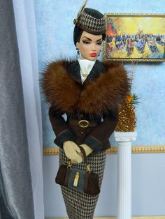 OOAK Winter Fashion for Fashion Royalty/Silkstone Barbie by Joby Originals