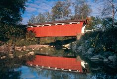 Crossing over Furnace Run, the Everett Road Covered Bridge is the only remaining covered bridge in Summit County.