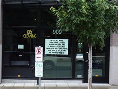 6. When this dry cleaner decided to offer their services to anyone in need - for free.