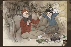 Mycroft and Sherlock. Adorable.