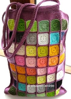 beautiful crochet granny bag and great stash eater!