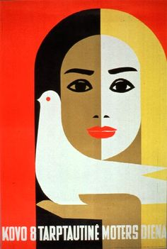 International Women's Day by Juozas Galkus (Lithuania, 1968)