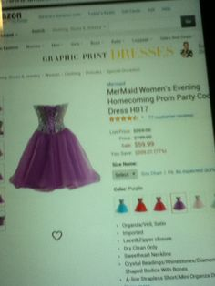 Back of Light Purple Formal Dress 7