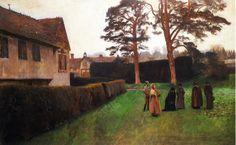 A Game of Bowls, Ightham Mote, Kent, 1889 - John Singer Sargent