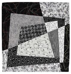In Search of Balance by Judy Book, Tangled Textiles. i really like the look of this block. wonder how it would look in blues and whites with masculine touch to it.
