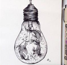 Desenhos de caneta preta de ponta fina - 7