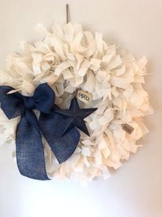 "Burlap Patriotic Wreath, EXTRA LARGE 26"", Patriotic Wreath, July 4th Wreath, Summer Wreath, Independence Day Wreath on Etsy, $65.50"