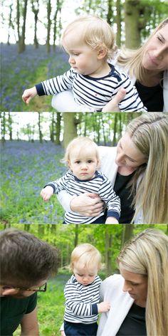woodland family photography, bluebells in saffron walden