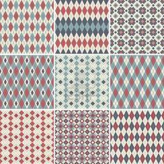 Seamless argyle patterns  Stock Photo