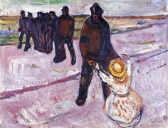 Edvard Munch, Worker and Child, 1908