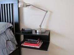Love this nightstand. Great idea for a small space.