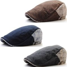c131377bd84 New Hazy Color Classy Design Check Newsboy Hat Gatsby Golf Ivy Cap Cabbie  N69. 1920s Mens HatsFlat CapCaps HatsMen s ...