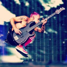 Flea at the Orion Music Festival on June 8th, 2013