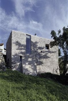 Wespi & de Meuron. Stone House Renovation in Scaiano. Ticino. Switzerland. 2001-2004. Photography Hannes Henz