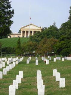 Arlington National Cemetery - I have visited there and it is amazing - The tomb of the unknown soldier and the eternal flame for President Kennedy makes you cry but proud to be in the land of the free