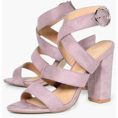 Boohoo Kayla Strappy Sandal ($50) ❤ liked on Polyvore featuring shoes, sandals, floral sandals, summer sandals, strappy block heel sandals, evening sandals and high heeled footwear