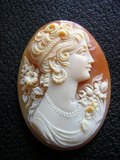 Antique Cameo - Cornelian Shell