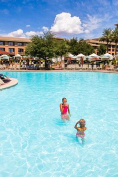 Looking for a kid-friendly Resort & Spa in Scottsdale AZ? The Westin Kierland Resort & Spa not only has 3 golf courses, but an awesome water park! Us Family Vacations, Kid Friendly Resorts, River Phoenix, Resort Spa, Dolores Park, Trips, Beautiful Places, Traveling, Bucket