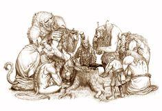 Per Sjögren, freelance illustrator and occasional comic creator Fantasy Dragon, Fantasy Warrior, Fantasy Rpg, Fantasy Artwork, Character Art, Character Design, Dark Elf, Freelance Illustrator, Creature Design