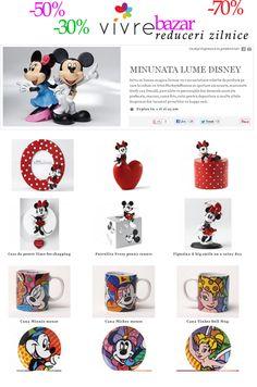 """Oferte din """"Minunata lume Disney"""" - http://www.outlet-copii.com/outlet-copii/brands/oferte-din-minunata-lume-disney/ -  Minunata lume Disney Intra in lumea magica Disney cu o incantatoare colectie de produse pe care le iubim cu totii: MickeyMinnie in ipostaze amuzante, marionete Goofy sau Donald, pusculite cu personajele din desenele animate preferate, ceasuri, rame foto, cutii pentru depozitare si multe altele desprinse din taramul povestilor cu happy"""