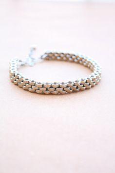 Men bracelet, stainless steel nuts, stainless steel bolts