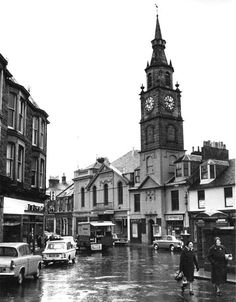 Saltcoats - Town Hall and Countess Street - 1967 Tenerife, West Coast Scotland, Kingdom Of Great Britain, Arran, Town Hall, Timeline Photos, Northern Ireland, New Pictures, Old Town