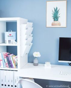 Simple and effective - clever idea for the organization of private filing, # filing . - Simpel und effektiv – clevere Idee für die Organisation der privaten Ablage, Simple and effective – clever idea for the organization of private filing, # filing Home Office Organization, Office Decor, Office Ideas, Organized Office, Organization Ideas, Decoracion Habitacion Ideas, Desk Redo, Ideas Para Organizar, Tumblr Rooms