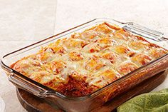 Layers of frozen ravioli are the not-so-secret star of this bubbly, lasagna-like bake that's easy to assemble on even the busiest of weeknights.