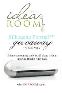 Silhouette Portrait Giveaway via Amy Huntley (The Idea Room) #Silhouette #Giveaway  @Amy Huntley (The Idea Room)