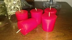 Check out this item in my Etsy shop https://www.etsy.com/listing/498230189/6-scented-votive-candles-pick-your-scent