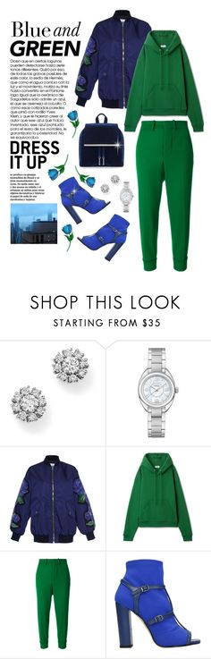 """""""Emerald City: Pops of Green"""" by shortyluv718 ❤ liked on Polyvore featuring Roberto Coin, Fendi, Ailin, Marni, Marc Ellis, contestentry and emeraldgreen"""