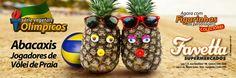 Favetta Supermercados: Campanha - Série Vegetais Olímpicos - Abacaxis Jogadores de Vôlei de Praia