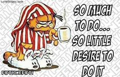 so much to do funny quotes quote garfield lol funny quote funny quotes humor