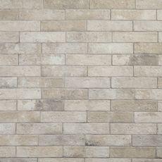 Alta Crema Brick Porcelain Tile - 2 x 10 - 100216134 Brick Look Tile, Stone Look Tile, Brick Tiles, Brick Tile Backsplash, Adhesive Backsplash, Backsplash Panels, Cement Tiles, Wall Tiles, Brick Paneling