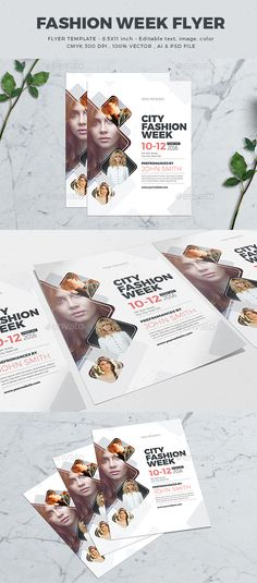 Fashion Week Flyer Template PSD, AI