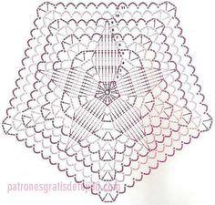 patrón de pentagono crochet