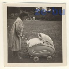 1950s Mom with Baby Stroller