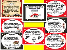 pirate themed figurative language posters