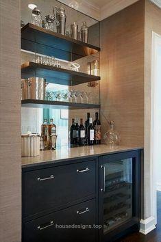 Wonderful Kitchen Bars Design Ideas For Kitchen Looks Cool 05 – Home Design Coffee Bar Design, Kitchen Bar Design, Kitchen Decor, Bar Kitchen, Kitchen Ideas, Home Bar Designs, Home Design, Küchen Design, Design Ideas