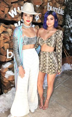 Kendall Jenner & Kylie Jenner from The Big Picture: Today's Hot Photos Dynamic duo! The sisters strike a pose while attending Winter Bumbleland at Coachella.