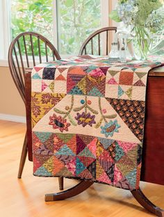 Q&A with Kim Diehl + new scrappy quilts + fabric giveaway!